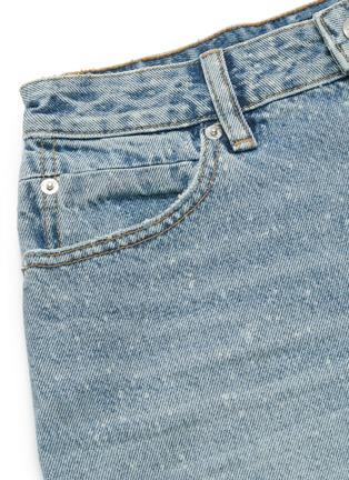 - ALEXANDERWANG - 'Bite' bleach splatter frayed cuff denim shorts
