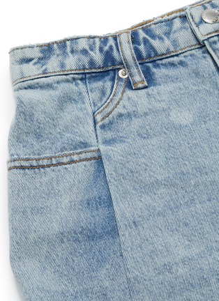 - ALEXANDERWANG - Pleated bleached mini denim skirt