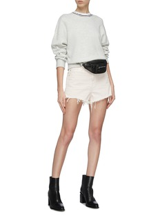 alexanderwang 'Bite' frayed cuff denim shorts