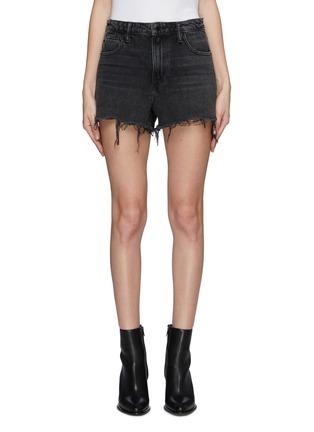 624c19b69f5fd alexanderwang.  Bite  frayed cuff denim shorts