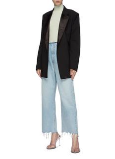 alexanderwang Raw split cuff wide leg jeans