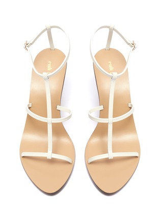 Detail View - Click To Enlarge - CULT GAIA - 'Eden' wooden ball heel leather sandals
