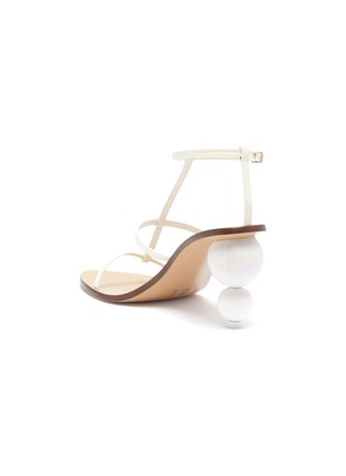 - CULT GAIA - 'Eden' wooden ball heel leather sandals