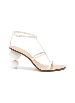 Main View - Click To Enlarge - CULT GAIA - 'Eden' wooden ball heel leather sandals