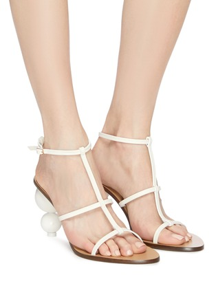 Figure View - Click To Enlarge - CULT GAIA - 'Eden' wooden ball heel leather sandals