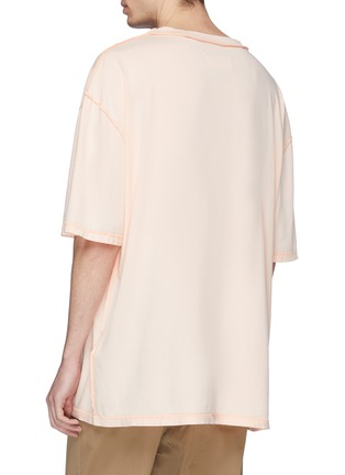 Back View - Click To Enlarge - Maison Margiela - Logo print oversized T-shirt