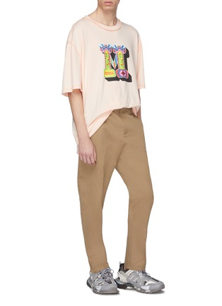 Figure View - Click To Enlarge - Maison Margiela - Logo print oversized T-shirt