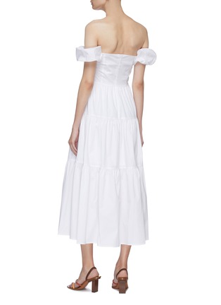 Back View - Click To Enlarge - STAUD - 'Elio' puff sleeve off-shoulder tiered maxi dress
