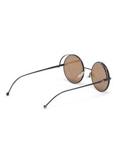 Fendi 'Fendirama' logo print spoiler metal round sunglasses