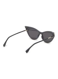 Fendi Glass crystal tip acetate cat eye sunglasses