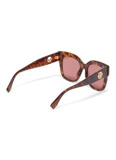 Fendi Logo print tortoiseshell acetate oversized square sunglasses