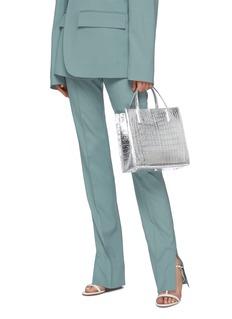 Nancy Gonzalez Small mirror crocodile leather tote