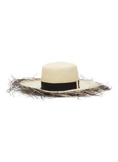Gigi Burris Millinery 'Beachcomber' dégradé fringe edge Panama straw hat