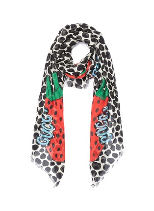 Main View - Click To Enlarge - GUCCI - 'Gucci Strawberry' print modal-silk scarf