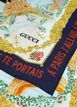 c304ee4d96 'Memories of Paris' print silk twill scarf