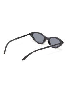 Topshop 'Peaches' acetate narrow cat eye sunglasses