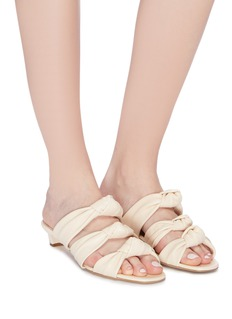 Paul Andrew 'Three 4 One' knot band cutout leather sandals