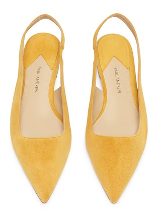Detail View - Click To Enlarge - PAUL ANDREW - 'Coquette' suede slingback flats