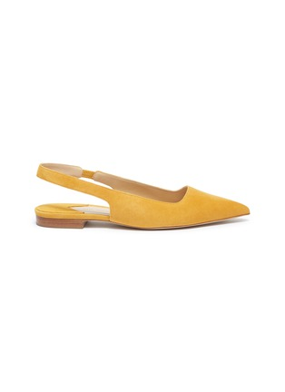 Main View - Click To Enlarge - PAUL ANDREW - 'Coquette' suede slingback flats