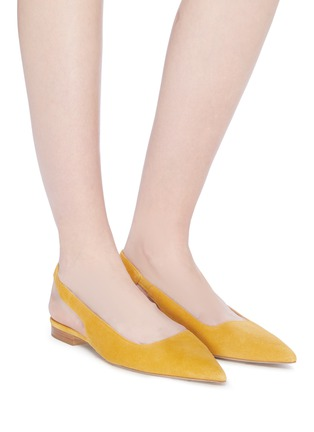 Figure View - Click To Enlarge - PAUL ANDREW - 'Coquette' suede slingback flats