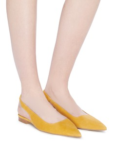 Paul Andrew 'Coquette' suede slingback flats