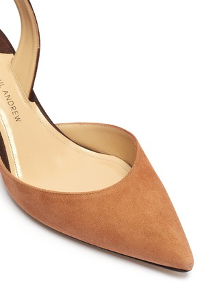 Detail View - Click To Enlarge - PAUL ANDREW - 'Rhea 55' colourblock suede slingback pumps