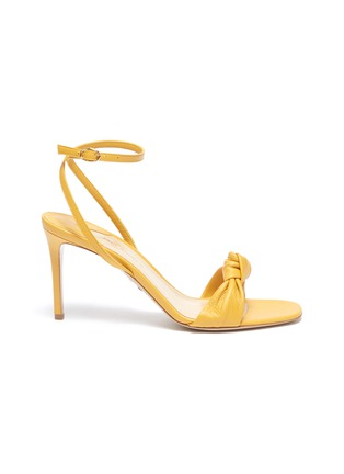 Main View - Click To Enlarge - PAUL ANDREW - 'Defiantly Her' ankle strap knot leather sandals