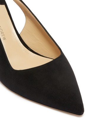 Detail View - Click To Enlarge - PAUL ANDREW - 'Coquette' suede slingback pumps