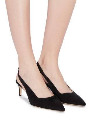 Figure View - Click To Enlarge - PAUL ANDREW - 'Coquette' suede slingback pumps