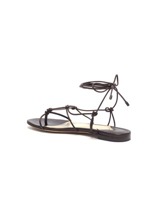 - PAUL ANDREW - 'Pearl Diver' elphae print plaque strappy leather sandals