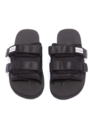 Detail View - Click To Enlarge - SUICOKE - 'MOTO-Cab' strappy band slide sandals