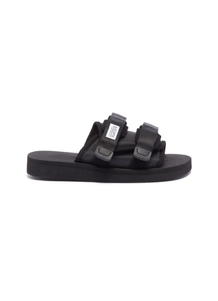 Main View - Click To Enlarge - SUICOKE - 'MOTO-Cab' strappy band slide sandals