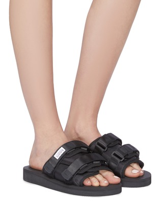 Figure View - Click To Enlarge - SUICOKE - 'MOTO-Cab' strappy band slide sandals