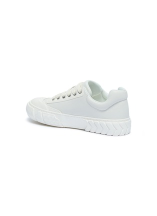 - BOTH - 'Skate Broken C' rubber panel leather sneakers