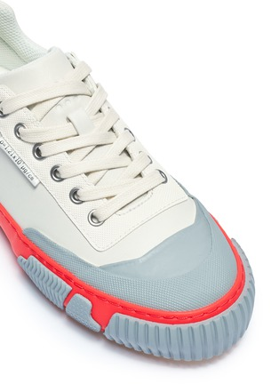 Detail View - Click To Enlarge - BOTH - 'Skate Broken C' colourblock rubber panel leather sneakers