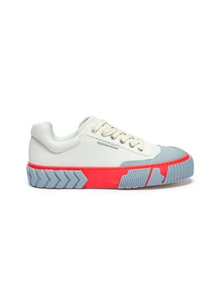 Main View - Click To Enlarge - BOTH - 'Skate Broken C' colourblock rubber panel leather sneakers