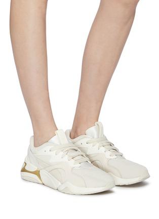 puma nova pastel grunge trainers in beige