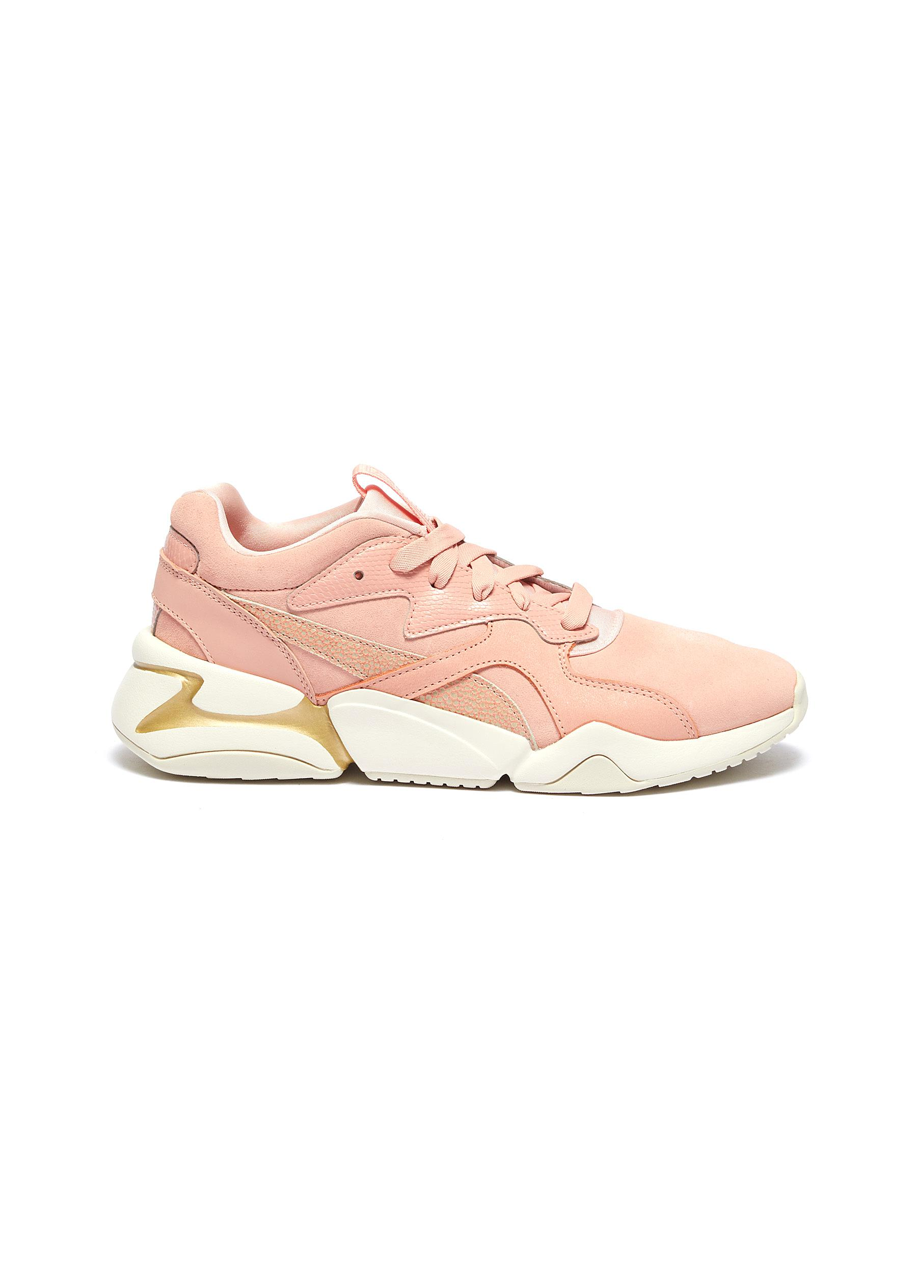 21e0a1167c Main View - Click To Enlarge - PUMA - 'Nova Pastel Grunge' panelled suede