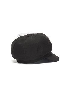 Venna Mesh embellished pin twill newsboy cap