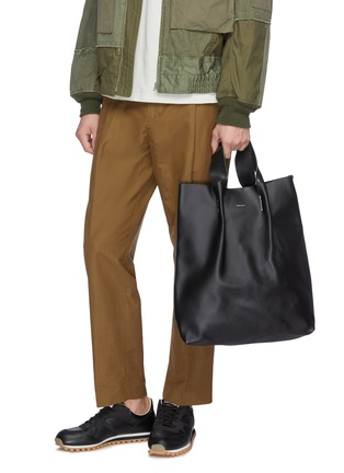 Figure View - Click To Enlarge - HENDER SCHEME - 'Piano' pleated leather tote
