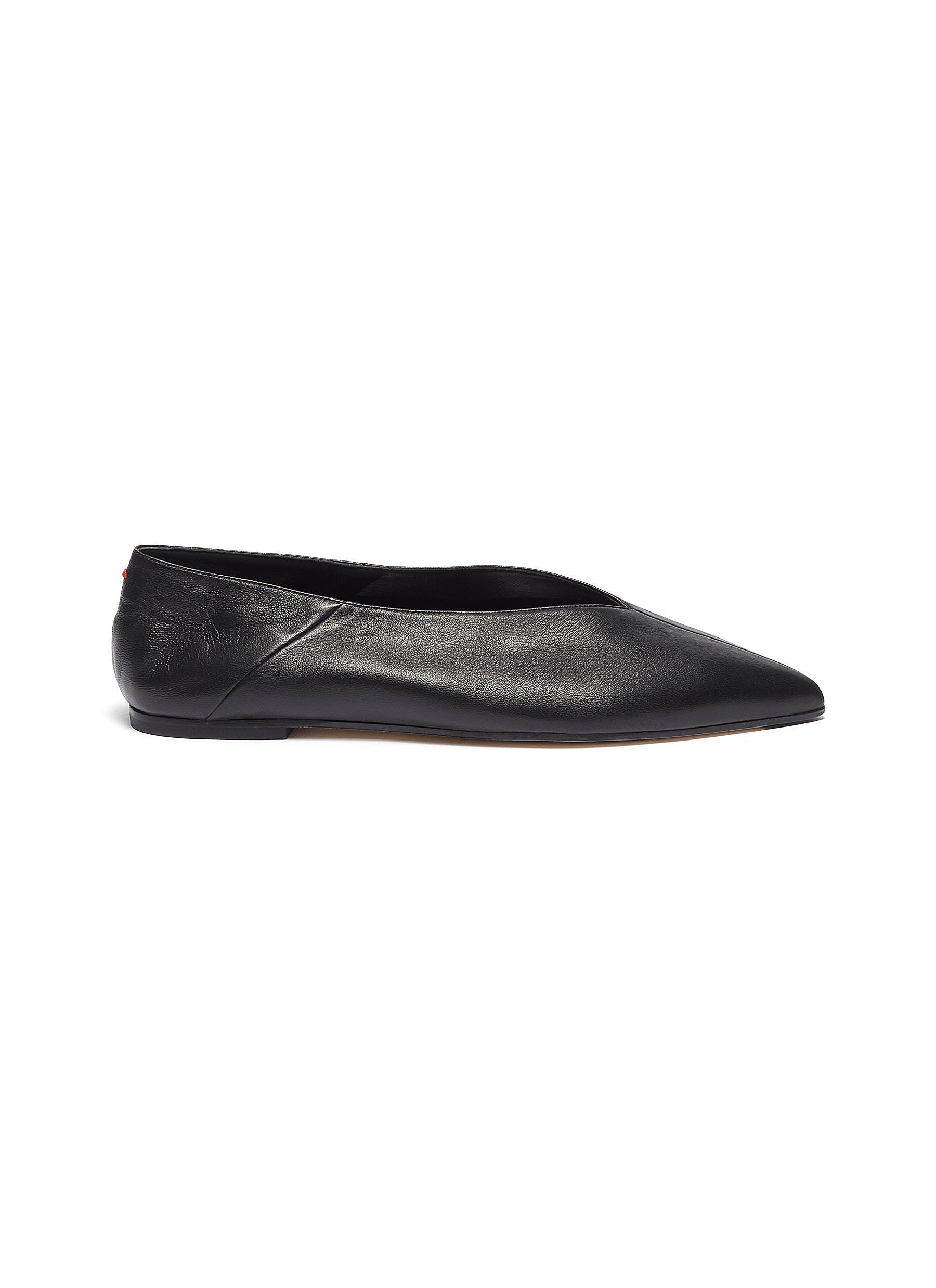 Aeyde Flats 'Moa' choked-up leather flats