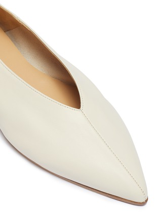 Detail View - Click To Enlarge - AEYDE - 'Moa' choked-up leather flats