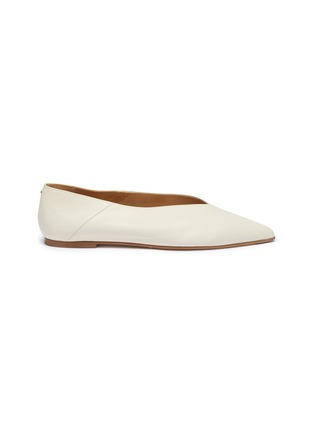 Main View - Click To Enlarge - AEYDE - 'Moa' choked-up leather flats