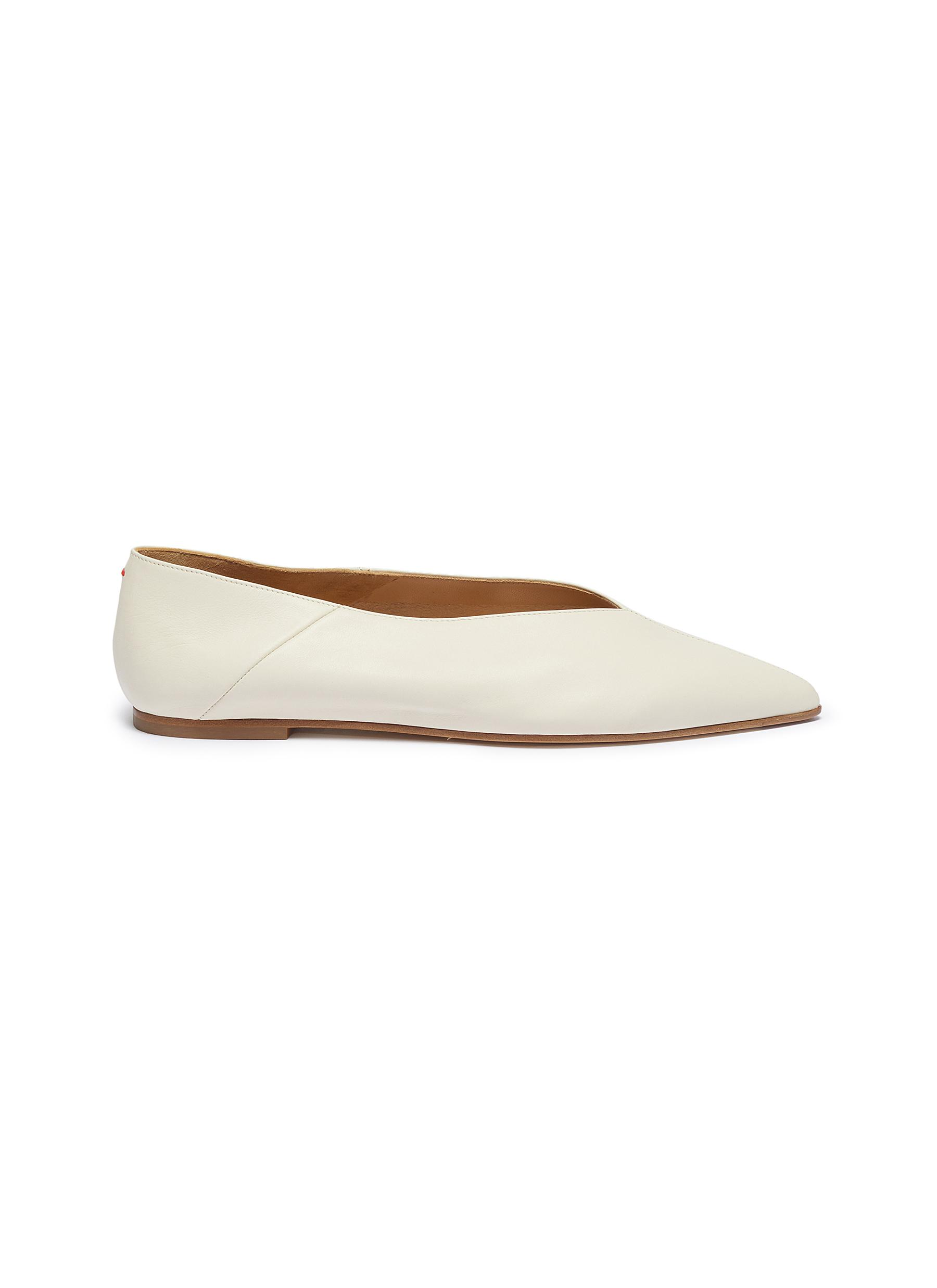 Moa choked-up leather flats by Aeyde
