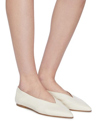 Figure View - Click To Enlarge - AEYDE - 'Moa' choked-up leather flats