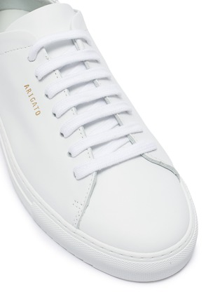 Detail View - Click To Enlarge - AXEL ARIGATO - 'Clean 90' suede counter leather sneakers