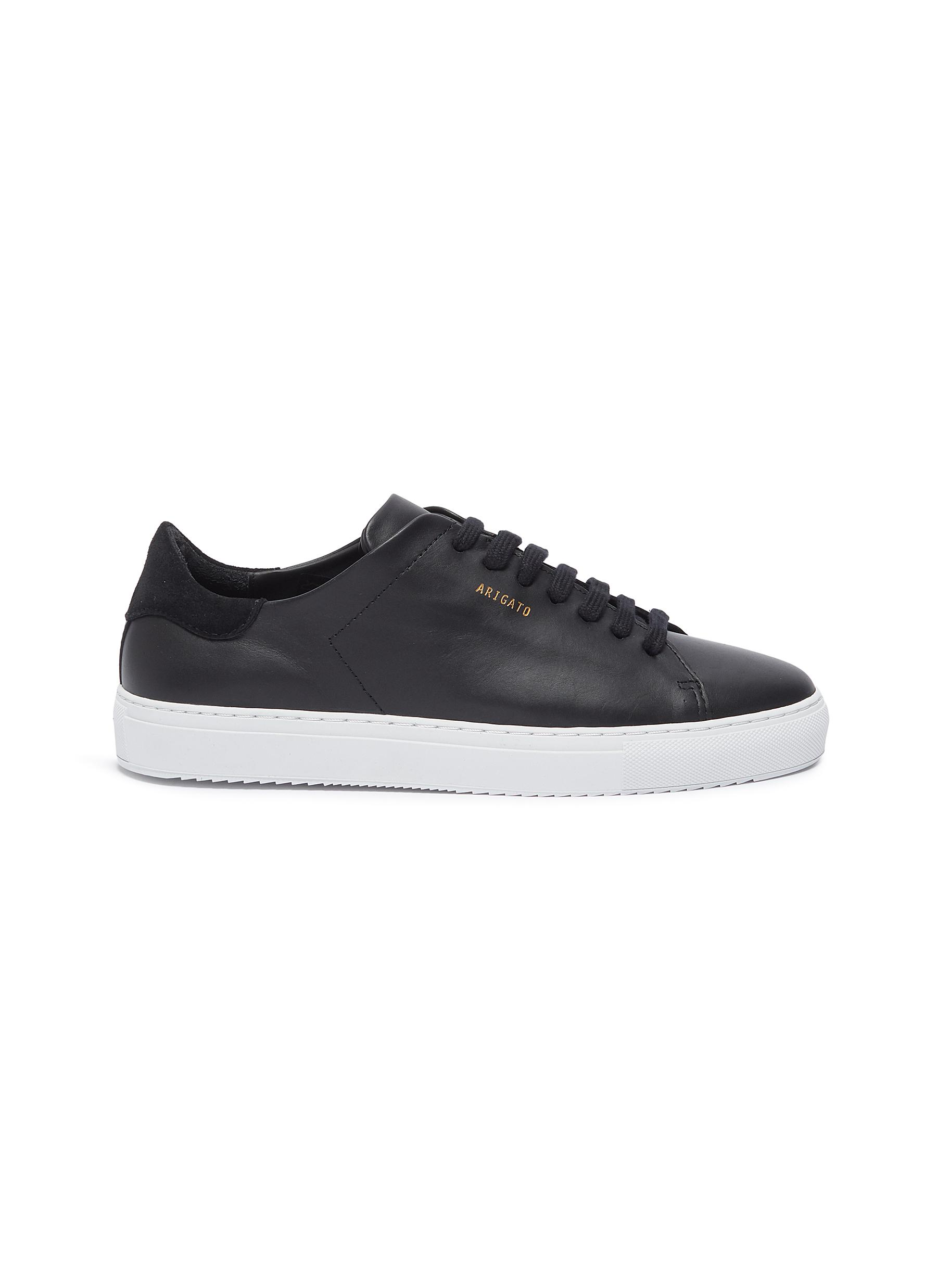 shop Axel Arigato 'Clean 90' suede counter leather sneakers online