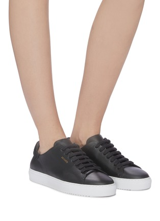 Figure View - Click To Enlarge - AXEL ARIGATO - 'Clean 90' suede counter leather sneakers
