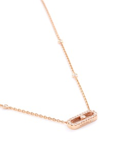 Messika 'Move Uno' diamond 18k rose gold necklace