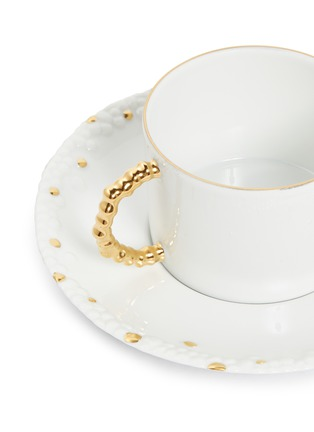 Detail View - Click To Enlarge - L'OBJET - x Haas Brothers Mojave teacup and saucer set – Gold